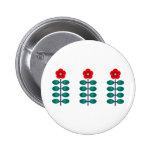 Earth Flower Stripe Pinback Button