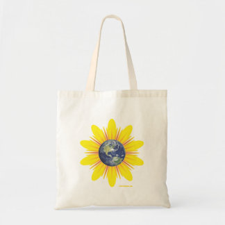 Earth Flower Tote Bags