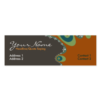 Earth fractal Profile Card Business Cards