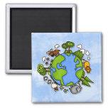 earth fridge magnet