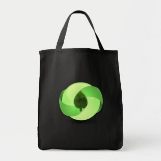 Earth Friendly Black Grocery Tote Canvas Bags