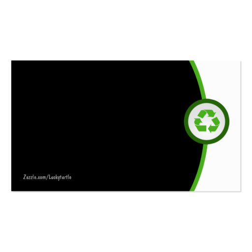 Earth Friendly Business Cards (back side)