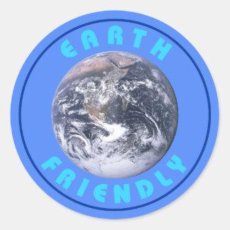 Earth Friendly Classic Round Sticker