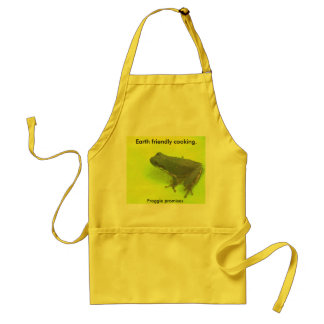 Earth friendly cooking. adult apron