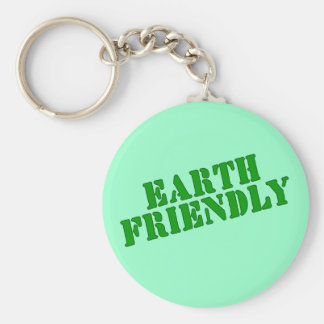 EARTH FRIENDLY Earth Day Tees and Totes Basic Round Button Keychain