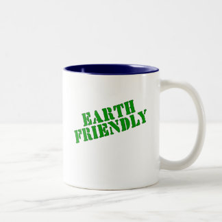 EARTH FRIENDLY Earth Day Tees and Totes Two-Tone Coffee Mug