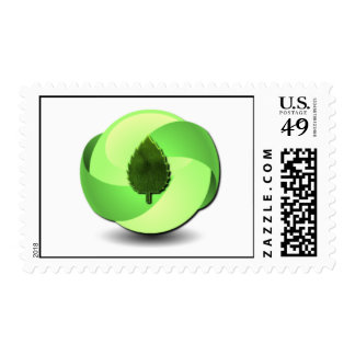 Earth Friendly Postage Stamp