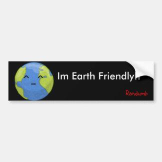 earth friendly sticker