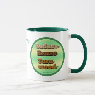 Earth Friendly Woodturning Green Personalized Mug