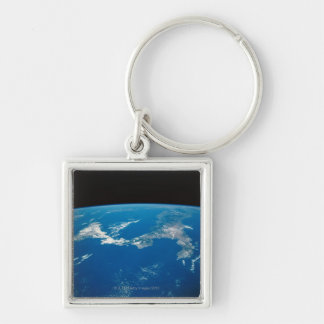 Earth from a Satellite 4 Key Chain