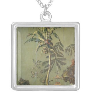 Earth, from a series of panels depicting silver plated necklace