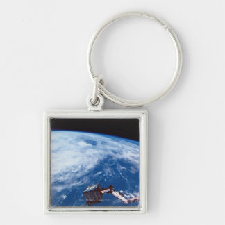 Earth from a Space Shuttle 2 Silver-Colored Square Keychain