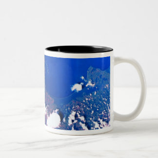 Earth from a Space Shuttle Two-Tone Coffee Mug