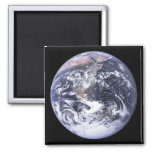 Earth from Apollo 17 2 Inch Square Magnet