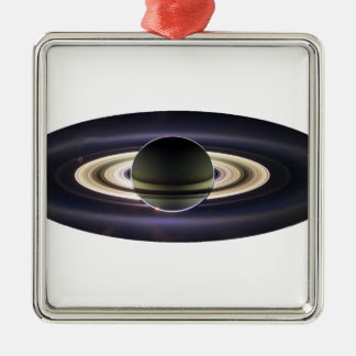EARTH FROM CASSINI METAL ORNAMENT