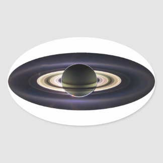 EARTH FROM CASSINI OVAL STICKER