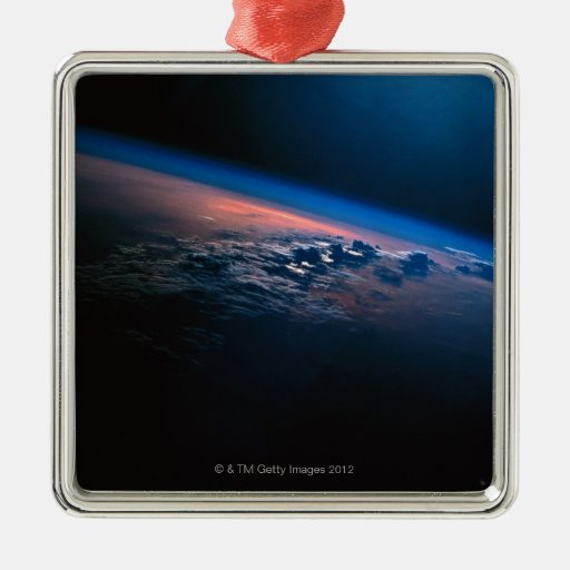 Earth from Outer Space 2 Metal Ornament