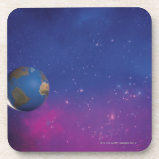 Earth from outer space drink coaster