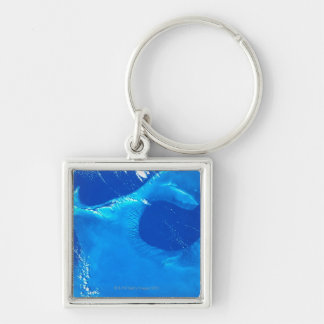 Earth from Satellite 4 Key Chain