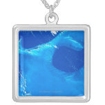 Earth from Satellite 4 Square Pendant Necklace