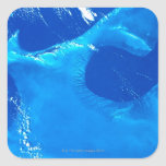 Earth from Satellite 4 Square Sticker