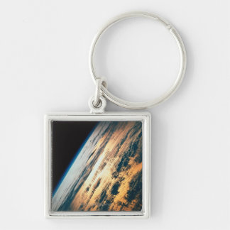 Earth from Satellite 6 Keychain