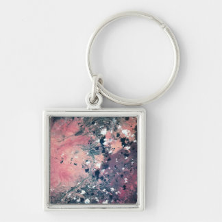 Earth from Satellite 7 Key Chain