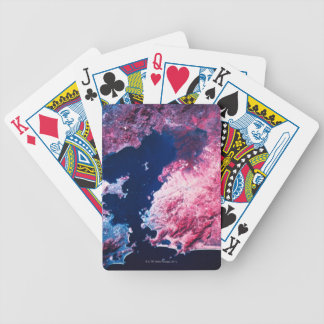 Earth from Satellite Bicycle Playing Cards