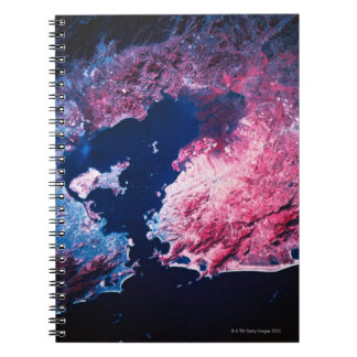 Earth from Satellite Spiral Notebook