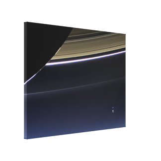 Earth from Saturn Canvas Print