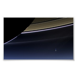 Earth from Saturn Poster