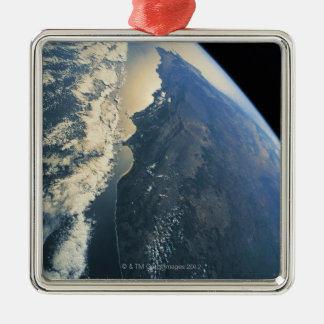 Earth from Space 11 Metal Ornament