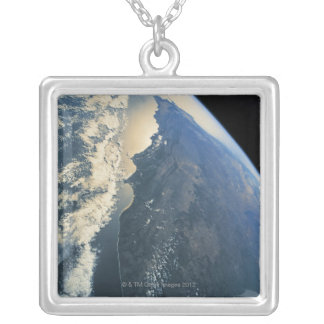 Earth from Space 11 Square Pendant Necklace