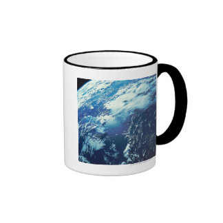 Earth from Space 16 Ringer Coffee Mug