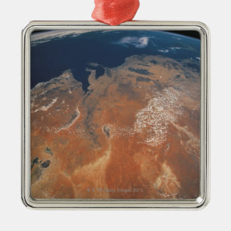 Earth from Space 24 Metal Ornament