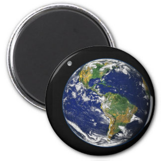 Earth from space 2 inch round magnet