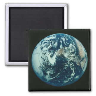Earth from Space 2 Inch Square Magnet