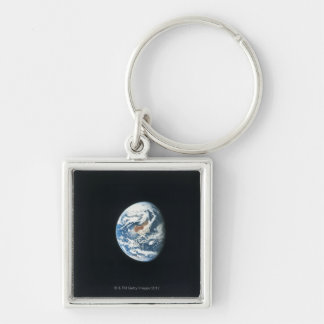Earth from Space 30 Silver-Colored Square Keychain