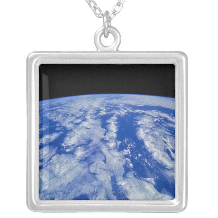 Earth from Space 8 Silver Plated Necklace