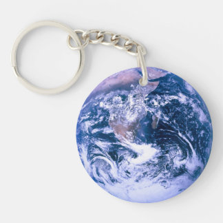 Earth From Space Blue Marble Double-Sided Round Acrylic Keychain