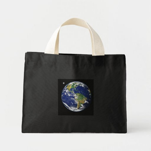 Earth from space canvas bag