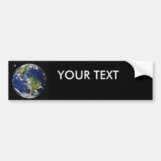 Earth from space car bumper sticker