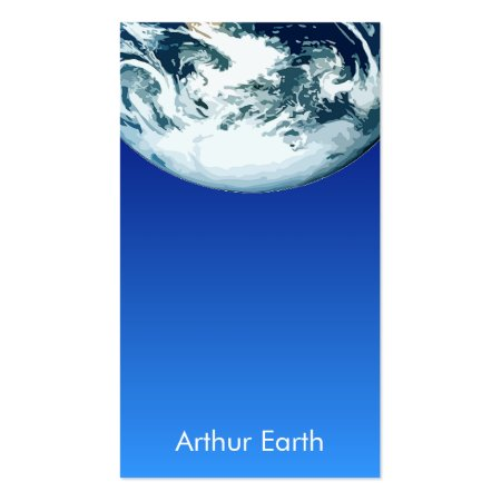 Bright Blue Earth from Space Astronomy Business Cards