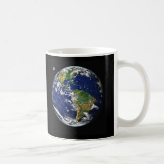 Earth from space classic white coffee mug