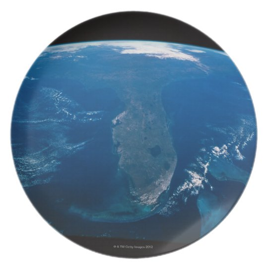 Earth from Space Melamine Plate