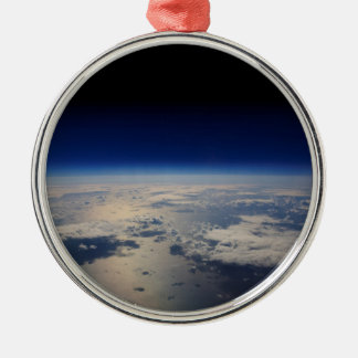 Earth from Space Metal Ornament