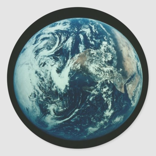 Earth from Space Sticker