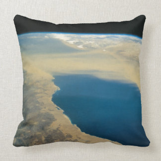 Earth From Space Throw Pillows