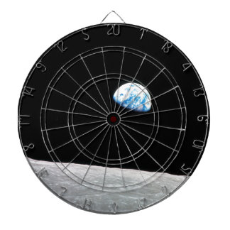 Earth from the Moon Dartboard With Darts