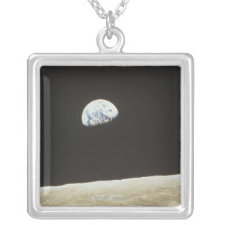 Earth from the Moon Silver Plated Necklace